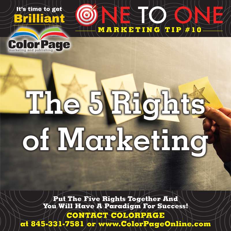 the five rights of marketing