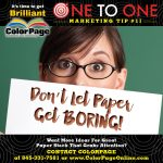 don't let paper get boring