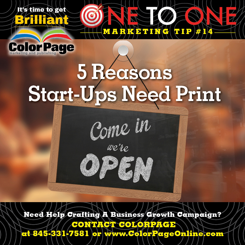 5 reasons start-ups need print