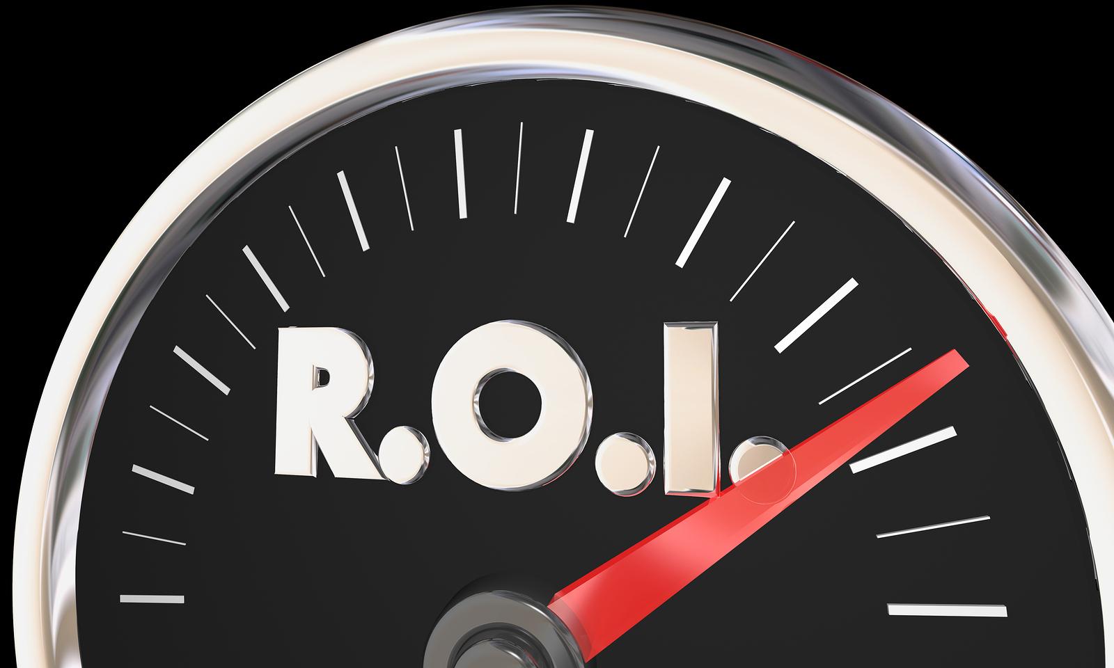 direct mail optimization calculator and speedometer gauge.